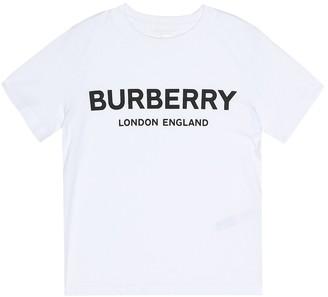 BURBERRY KIDS Logo cotton T-shirt