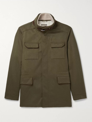 Loro Piana Suede- And Leather-Trimmed Storm System Cashmere-Blend Field Jacket