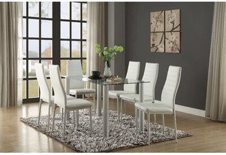 Wade Logan Aubree Dining Table Finish: White