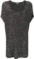 Saint Laurent sequin T-shirt dress