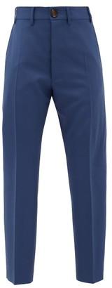 Vivienne Westwood Wool Serge-twill Slim-leg Suit Trousers - Navy