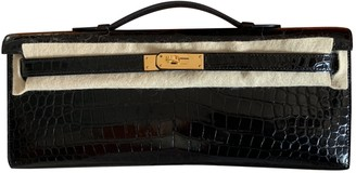 Hermes Kelly Cut Clutch Black Crocodile Clutch bags