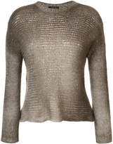 Avant Toi gradient round neck sweater