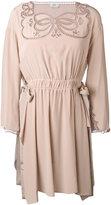 Fendi embroidered shirt dress - women - Silk - 40