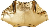 Alexander McQueen De Manta Clutch Gold Rocher Clutch Handbag