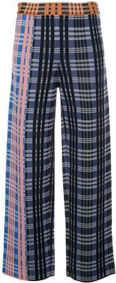 M Missoni Check Pattern Palazzo Trousers