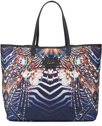 Camilla Coated Canvas Beach Tote Bag