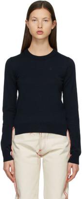Maison Margiela Navy M Logo Sweater