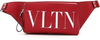 Valentino Men's Logo-Front Leather Belt Bag