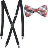 Jf J.Ferrar JF Tonal Check Bowtie and Suspender Set