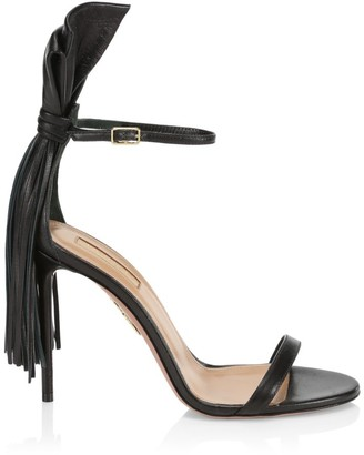 Aquazzura Whip-It Fringe Leather Sandals