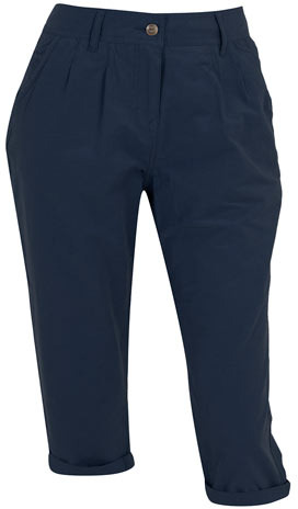 Dorothy Perkins Navy cotton nylon crop trouser