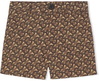 BURBERRY KIDS Monogram Print Tailored Shorts