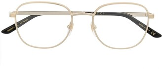 Gucci Metal Round-Frame Glasses