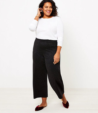 LOFT Plus Shimmer Pull On Wide Leg Pants