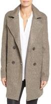 Halogen Double Breasted Bouclé Coat (Regular & Petite)