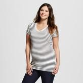 Maternity Striped V-Neck Tee - Liz Lange® for Target