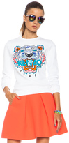Kenzo Embroidered Tiger Sweatshirt in White.