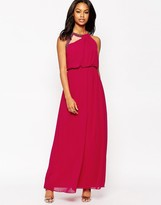 Little Mistress Maxi Dress with Exposed Shoulder Detail