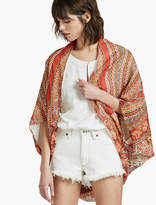 Lucky Brand Floral Scarf Print Jacket