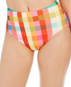 Kate Spade Printed High-Waist Bikini Bottoms Women's Swimsuit