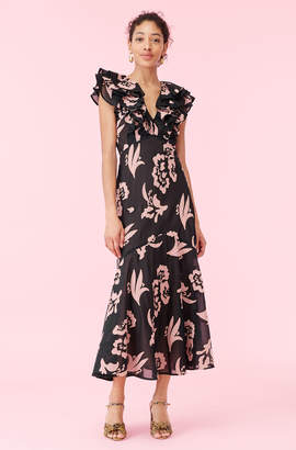 Rebecca Taylor Amea Applique Ruffle Dress