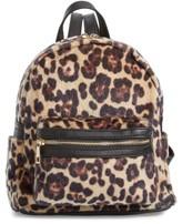 BP Leopard Print Faux Fur Backpack - Brown