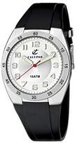 Calypso Men's Quartz Watch with Silver Dial Analogue Display and Black Plastic Strap K6044/A