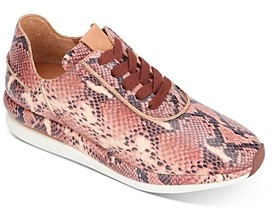 Gentle Souls by Kenneth Cole Gentle Souls Women's Raina Snake Embossed Leather Lace Up Wedge Sneakers