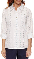 Alfred Dunner Long Sleeve Button-Front Shirt