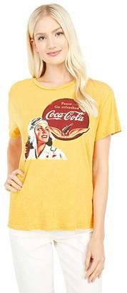 Lucky Brand Coca-Cola Aviation Boyfriend Tee (Golden Yellow) Women's Clothing
