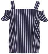 Quiz *Quiz Navy and White Striped Top