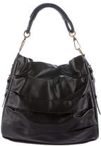 Christian Dior Pleated Leather Shoulder Bag