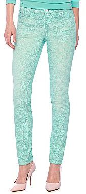 JCPenney Bisou Bisou® 5-Pocket Print Skinny Jeans