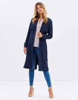 Prime Pin-Stripe Trench Coat