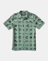 Vans x Brain Dead Short Sleeve Woven Shirt (Green)