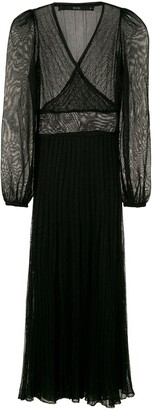 Eva Sheer Detail Midi Dress
