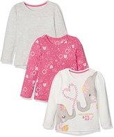 Mothercare Girl's Safari - 3 Pack T - Shirt