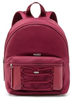 HUGO BOSS Backpack in nylon twill with drawstring detail