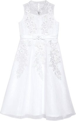Iris & Ivy Embellished Lace A-Line First Communion Dress