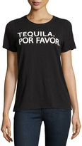 Chaser Graphic-Text Front Jersey Tee, Black