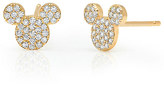 Disney Mickey Mouse Icon Stud Earrings by CRISLU - Yellow Gold