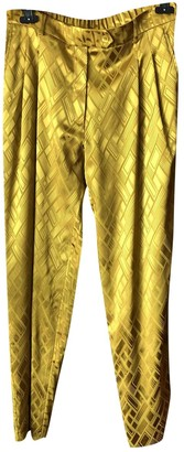 LAYEUR Yellow Trousers for Women