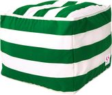 Indo Soul Indosoul Outdoor Ottomans Kakaban Outdoor Ottoman Cover, Green/white Indo