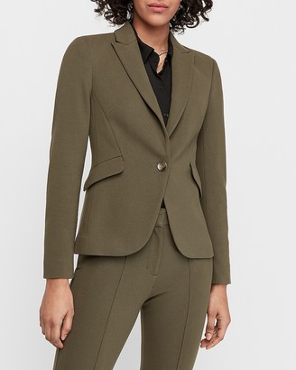 Express One Button Peak Lapel Blazer