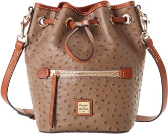 Dooney & Bourke Ostrich Small Drawstring Crossbody