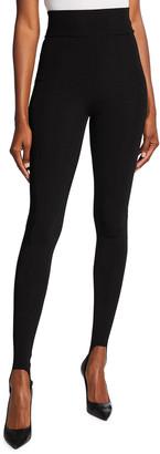 Victoria Beckham High-Waist Compact Shine Leggings