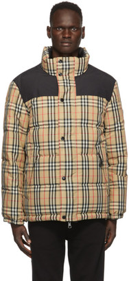 Burberry Reversible Beige Down Check Holland Jacket