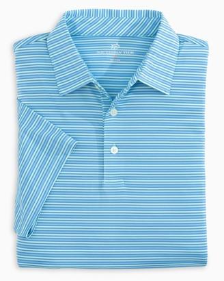 Southern Tide Driver Multi Stripe Performance Polo Shirt