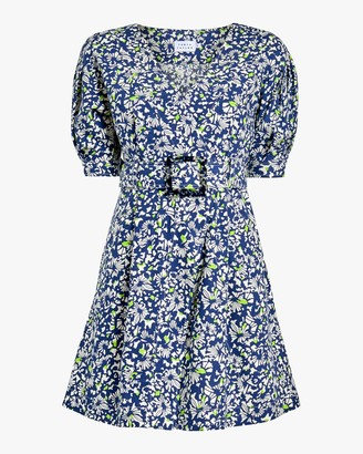 Tanya Taylor Coral Fit Flare Dress